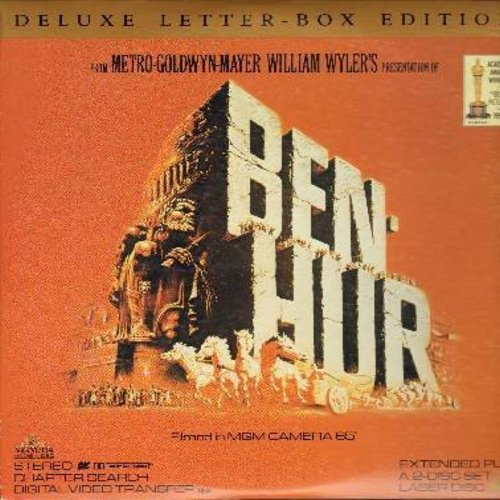 Ben Hur - Ben Hur - The 1959 Best Picture Oscar Winner - This is a set of 2 LASER DISCS, NOT ANY OTHER KIND OF MEDIA! - NM9/EX8 - Laser Discs