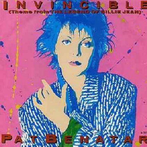 Benatar, Pat - Invincible (Theme From The Legend Of Billie Jean)/Instrumental version (with picture sleeve) - NM9/EX8 - 45 rpm Records