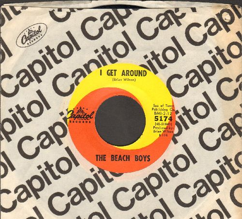 Beach Boys - I Get Around/Don't Worry Baby (with Capitol company sleeve) - EX8/ - 45 rpm Records