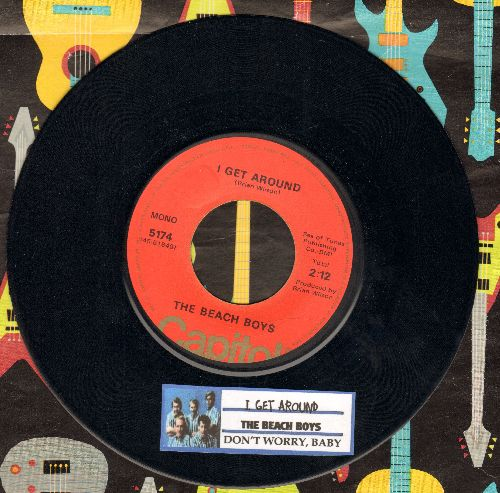 Beach Boys - I Get Around/Don't Worry Baby (1970s pressing with juke box label) - VG7/ - 45 rpm Records