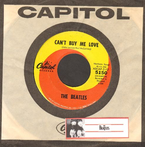Beatles - Can't Buy Me Love/You Can't Do That (with Capitol company sleeve) - NM9/ - 45 rpm Records