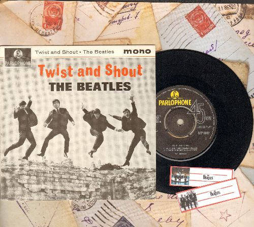 Beatles - Twist And Shout/A Taste Of Honey/Do You Want To Know A Secret/There's A Place (vinyl EP record with picture cover, British Pressing) - NM9/NM9 - 45 rpm Records