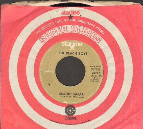Beach Boys - Surfin' Safari/409 (early re-issue with Capitol company sleeve) - VG7/ - 45 rpm Records