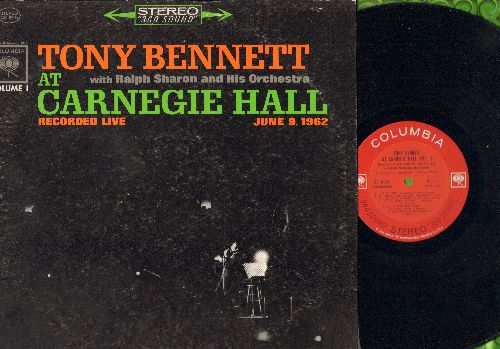 Bennett, Tony - At Carnegie Hall: Stranger In paradise, Ol' Man River, I Left My Heart In San Francisco (vinyl STEREO LP record) - EX8/VG6 - LP Records