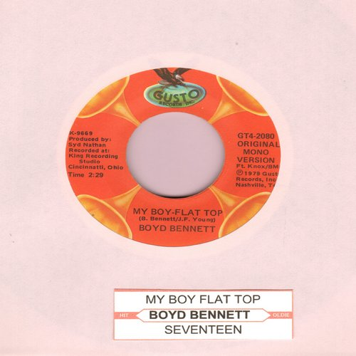 Bennett, Boyd & His Rockets - My Boy-Flat Top/Seventeen (double-hit re-issue with juke box label) - NM9/ - 45 rpm Records