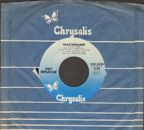 Benatar, Pat - Heartbreaker/My Clone Sleeps Alone (with Chrysalis company sleeve) - EX8/ - 45 rpm Records