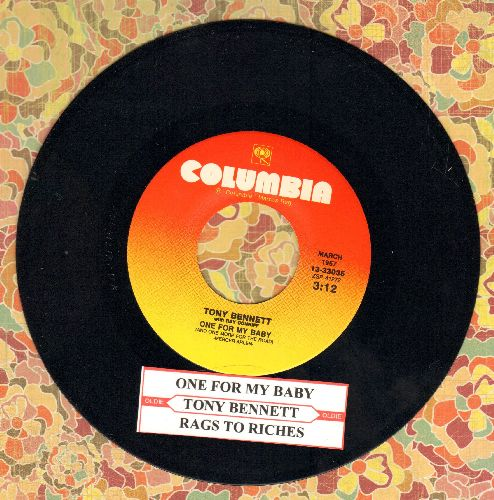 Bennett, Tony - One For My Baby (And One More For The Road)/Rags To Riches (re-issue of vintage recordings with juke box label) - M10/ - 45 rpm Records