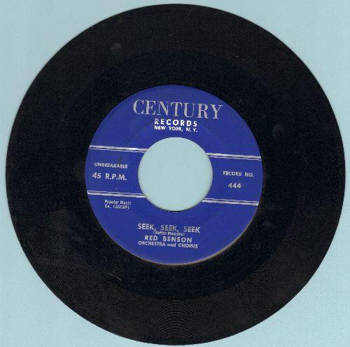 Benson, Red - Seek, Seek, Seek/Here Today And Gone Tomorrow - EX8/ - 45 rpm Records