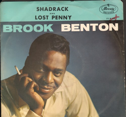 Benton, Brook - Shadrack/The Lost Penny (with picture sleeve) - NM9/VG7 - 45 rpm Records