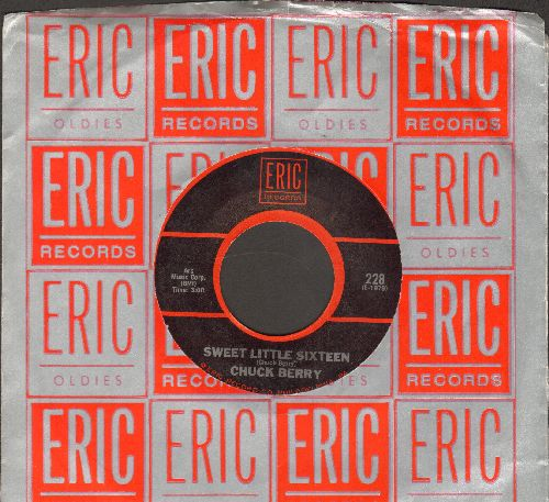 Berry, Chuck - Sweet Little Sixteen/No Particular Place To Go (double-hit re-issue with Eric company sleeve) - EX8/ - 45 rpm Records