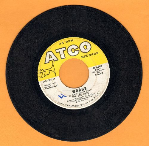 Bee Gees - Words/Sinking Ships - VG7/ - 45 rpm Records