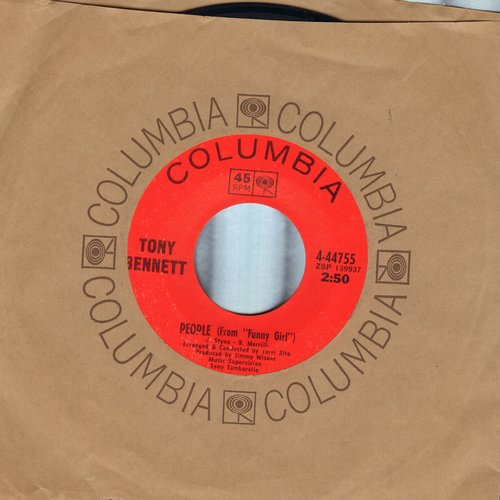 Bennett, Tony - People/They All Laughed (with Columbia company sleeve) - NM9/ - 45 rpm Records