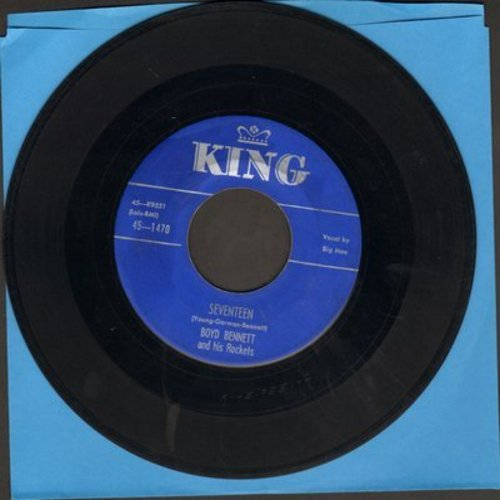 Bennett, Boyd & His Rockets - Seventeen/Little Ole You-All (blue label) - VG7/ - 45 rpm Records