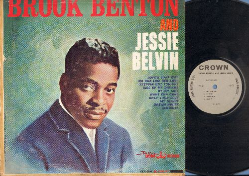 Benton, Brook & Jessie Belvin - Brook Benton & Jessie Belvin: Love's That Way, Girl Of My Dreams, Only Your Love, My Desire, Senorita (vinyl MONO LP record) - EX8/VG6 - LP Records