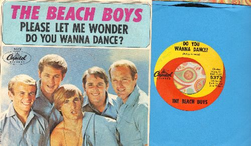 Beach Boys - Do You Wanna Dance?/Please Let Me Wonder (with picture sleeve) - EX8/EX8 - 45 rpm Records