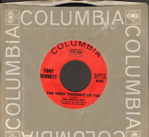 Bennett, Tony - The Very Thought Of You/Georgia Rose (with Columbia company sleeve) - NM9/ - 45 rpm Records