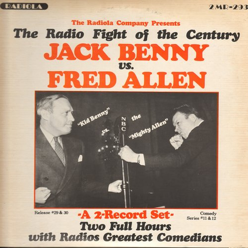 Benny, Jack & Fred Allen - The Radio Fight Of The Century: Jack Benny vs. Fred Allen (2 vinyl LP record set, 2 hours with Radio's Greatest Commedians, gate-fold cover 1970s issue of vintage recordings) - NM9/EX8 - LP Records