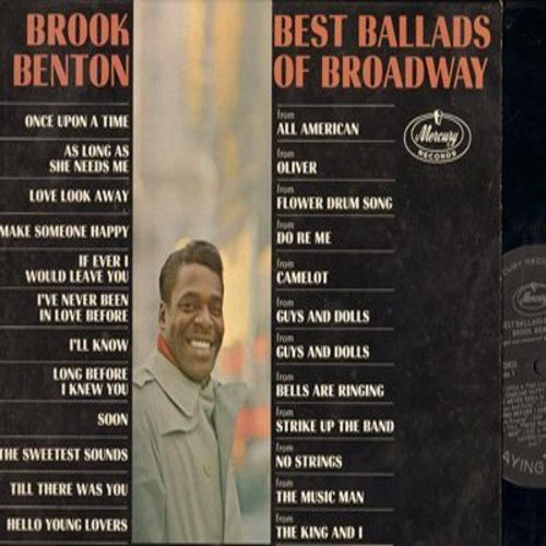 Benton, Brook - Best Ballads Of Broadway: As Long As She Needs Me, Make Someone Happy, I'll Know, Once Upon A Time (vinyl MONO LP record) - NM9/EX8 - LP Records