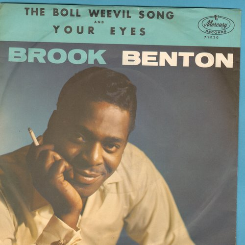 Benton, Brook - The Boll Weevil Song/Your Eyes (with picture sleeve) - NM9/EX8 - 45 rpm Records