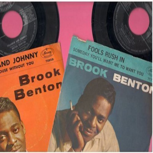 Benton, Brook - 2 for 1 Special: Fools Rush In/Frankie And Johnny  (2 original first issue 45rpm records with picture sleeves for the price of 1!) - NM9/VG7 - 45 rpm Records