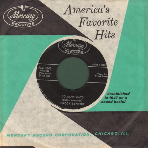 Benton, Brook - So Many Ways/I Want You Forever (MINT condition with vintage Mercury company sleeve) - M10/ - 45 rpm Records