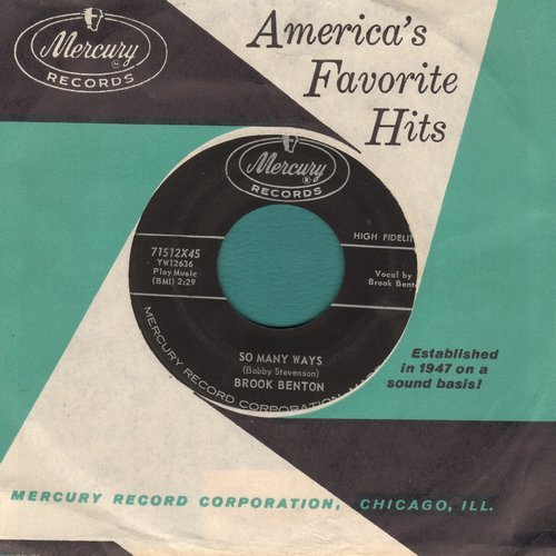 Benton, Brook - So Many Ways/I Want You Forever (with vintage Mercury company sleeve) - EX8/ - 45 rpm Records