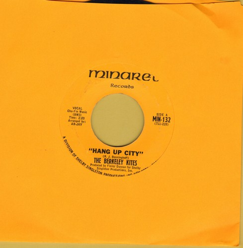 Berkeley Kites - Hang Up City (FANTASTIC 60s Psychedelic Sound!)/Mary-Go-Round - EX8/ - 45 rpm Records