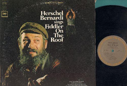 Bernardi, Herschel - Herschel Bernardi sings Fiddler On The Roof (vinyl STEREO LP record) - EX8/VG7 - LP Records