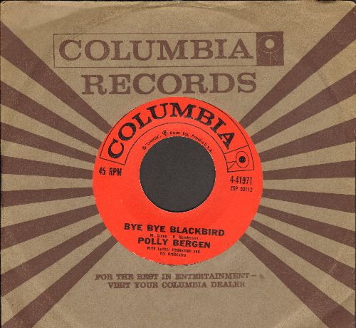 Bergen, Polly - Bye Bye Blackbird/The Happiest Girl In The World (with Columbia company sleeve) - NM9/ - 45 rpm Records