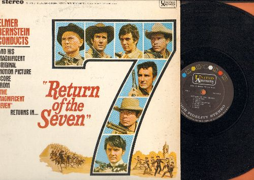 Bernstein, Elmer - Return Of The Seven - Original Motion Picture Sound Track, composed and conducted by Elmer Bernstein, featuring the hit title theme -The Magnificent Seven- (vinyl STEREO LP record) - EX8/EX8 - LP Records