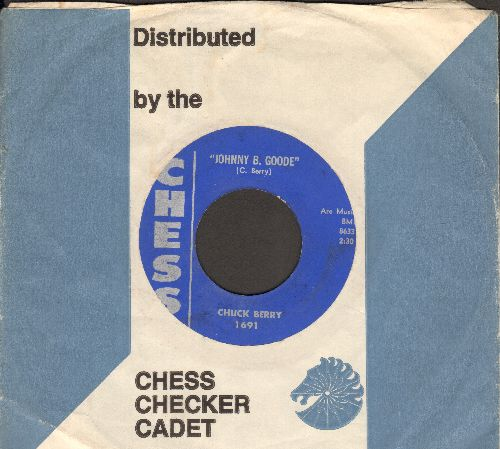 Berry, Chuck - Little Marie/Go, Bobby Soxer (blue label with company sleeve) - VG7/ - 45 rpm Records