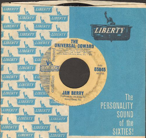 Berry, Jan - The Universal Coward/I Can't Wait To Love You (DJ advance pressing) - VG6/ - 45 rpm Records