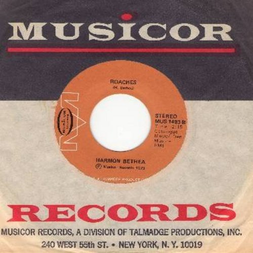 Bethea, Harmon - Roaches/Talking About The Boss And I (RARE Novelty record with references to Civil Rights Movement, with vintage Musicor company sleeve) - M10/ - 45 rpm Records