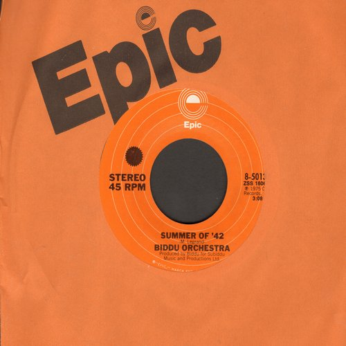 Biddu Orchestra - Summer Of '42/Northern Dancer (with Epic company sleeve) - M10/ - 45 rpm Records