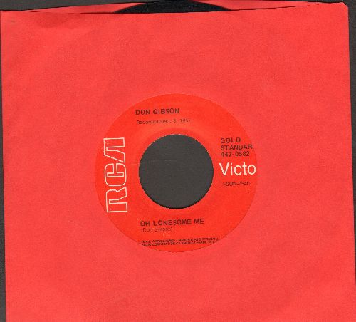 Gibson, Don - Oh Lonesome Me/Blue Blue Day (early double-hit re-issue) - NM9/ - 45 rpm Records