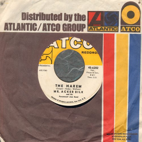 Bilk, Mr. Acker - The Harem/Train Song (with Atco company sleeve) - NM9/ - 45 rpm Records