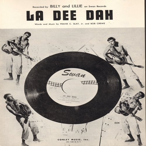 Billy & Lillie - La Dee Dah - SHEET Music for the song made popular by Billy & Lillie  (This is SHEET MUSIC, not any other kind of media!) - NM9/ - Sheet Music
