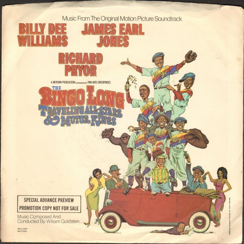 Goldstein, William - Razzle Dazzle (from film -The Bingo Long Traveling All-Stars & Motor Kings- Starring Billy Dee Williams, James Earl Jones and Richard Pryor. double-A-sided DJ advance pressing with picture sleeve) - M10/EX8 - 45 rpm Records