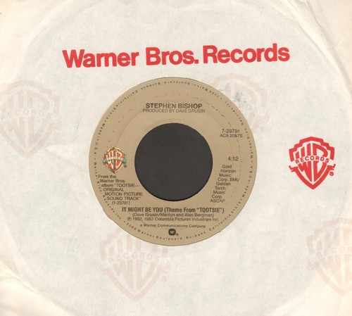 Bishop, Stephen - It Might Be You (Theme From -Tootsie-)/Metamorphosis Blues (It Must Be You - Insterumental) - EX8/ - 45 rpm Records