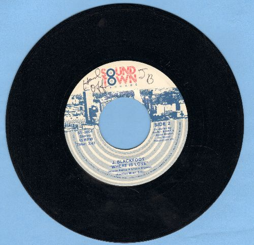 Blackfoot, J. - Taxi/Where Is Love - EX8/ - 45 rpm Records
