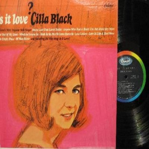 Black, Cilla - Is It Love?: You've Lost That Lovin' Feelin', Goin' Out Of My Head, Love Is Like A Heat Wave, Anyone Who Had A Heart, Ol' Man River (vinyl MONO LP record) - EX8/EX8 - LP Records