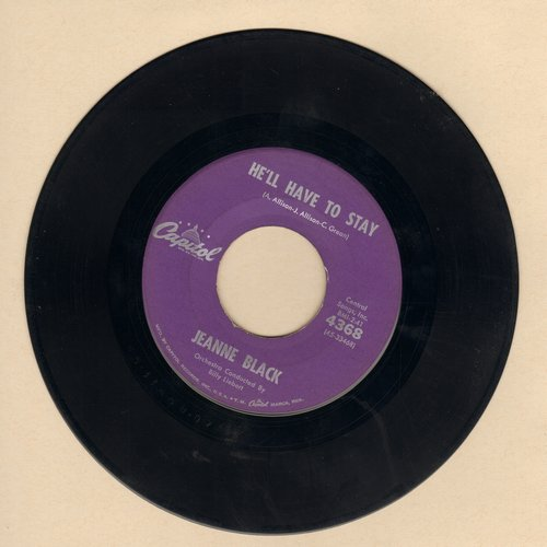 Black, Jeanne - He'll Have To Stay (Answer to 'He'll Have To Go')/Under Your Spell Again - VG6/ - 45 rpm Records