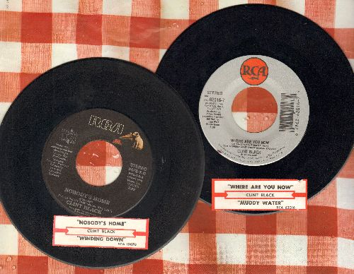 Black, Clint - 2 for 1 Special: Nobody's Home/Where Are You Now (2 vintage first issue 45rpm records with juke box labels for the price of 1!) - EX8/ - 45 rpm Records