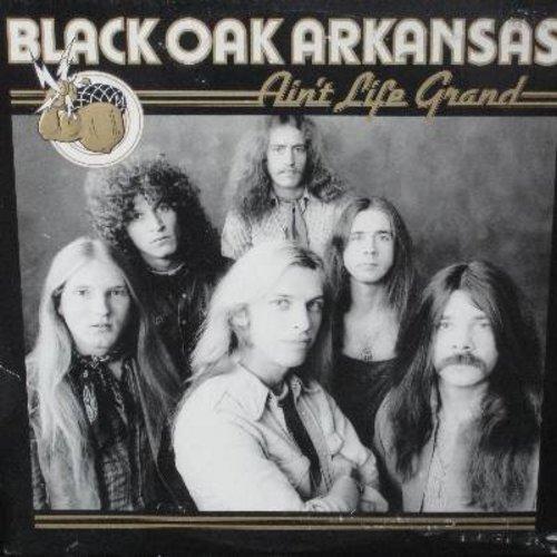 Black Oaks Arkansas - Ain't Life Grand: Taxman,Fancy Nancy, Keep On, Good Stuff, Rebel, Back Door Man, Diggin' For Gold, Cryin' Shame (vinyl STEREO LP record) - NM9/VG7 - LP Records