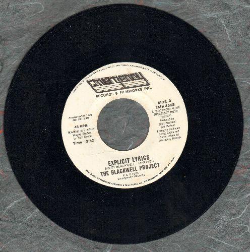Blackwell Project - Explicit Lyrics/X-Plicit Lyrics (Instrumental) (DJ advance pressing) - M10/ - 45 rpm Records