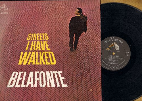 Belafonte, Harry - Streets I Have Walked: Waltzing Matilda, Come Away Melinda, My Old Paint, Sit Down, This Land Is Your Land (vinyl MONO LP record, DJ advance pressing) - NM9/NM9 - LP Records