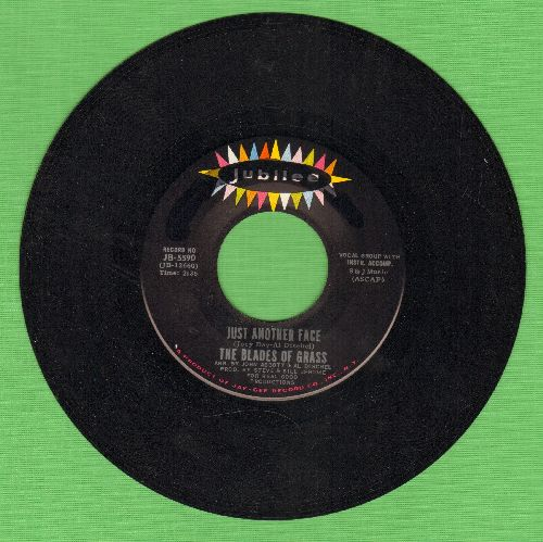 Blades Of Grass - Just Another Face/Baby You're A Real Good Friend Of Mine (minor wol) - NM9/ - 45 rpm Records