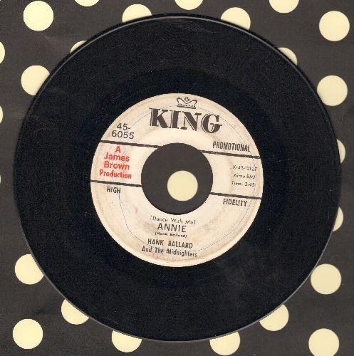 Ballard, Hank & The Midnighters - (Dance With Me) Annie/He Came Along (DJ advance pressing) (minor wol) - VG7/ - 45 rpm Records