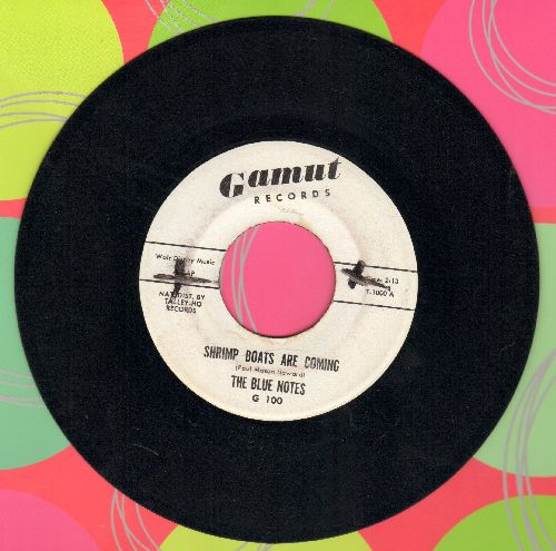 Blue Notes - Shrimp Boats Are Coming/My Heart Crys For You (DJ advance pressing) - EX8/ - 45 rpm Records