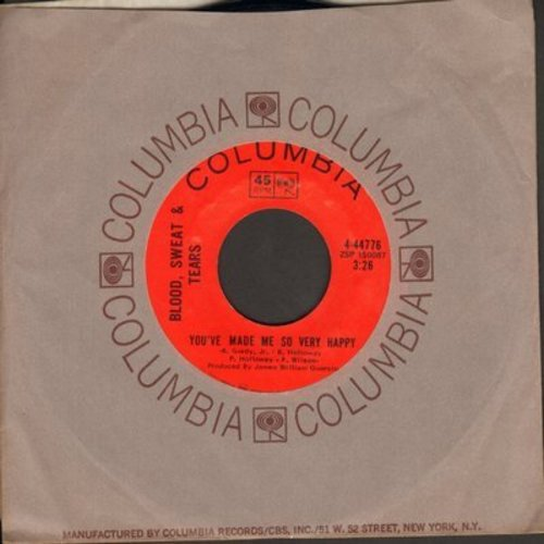 Blood, Sweat & Tears - You've Made Me So Very Happy/Spinning Wheel (with Columbia company sleeve) - NM9/ - 45 rpm Records
